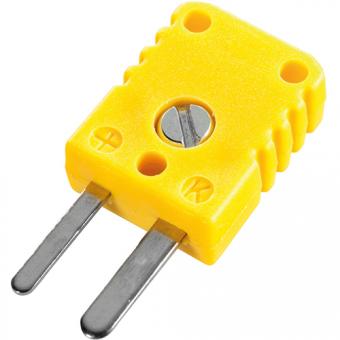 Miniaturstecker, Typ K, gelb