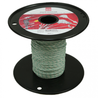 Thermodraht 2 x 0,20 mm,Typ K NiCr-Ni, Glasseide umflochten, 100 m