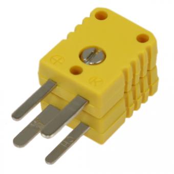 Miniatur-Doppelstecker Typ K, gelb
