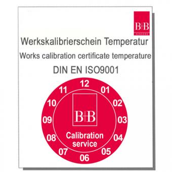 Standard ISO Werkskalibrierschein für Temperaturfühler