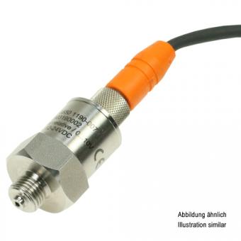 """Drucktransmitter Edelstahl G1/2"""" 0-4bar relativ 10V M12-Steckerbuchse"""