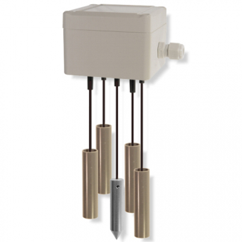 Liquid level probe with pendulum electrodes for level controller