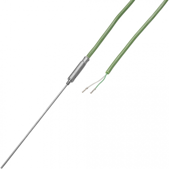 Mineral insulated thermocouple with 2 m silicon cable type K Ø1.5 NL500