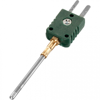 Mineral insulated thermocouple with miniature plug type K Ø1.5 NL100