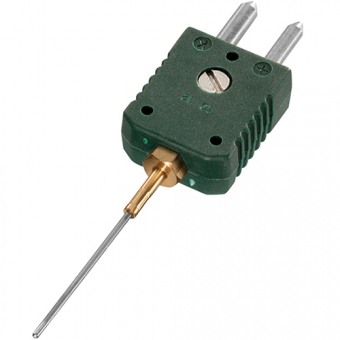 Mineral insulated thermocouple with standard plug , type K