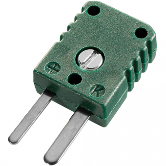 Miniature thermocouple connector type K, green