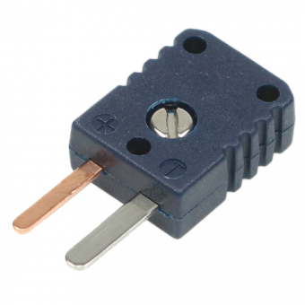 Miniature thermocouple connector type T, blue