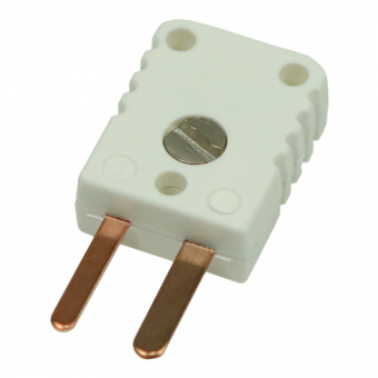 Miniature thermocouple connector type U, white