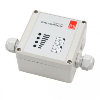 Niveauregler 230 V/AC im Gehäuse mit Bedienteil