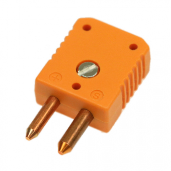 Standard thermocouple connector, type S, orange
