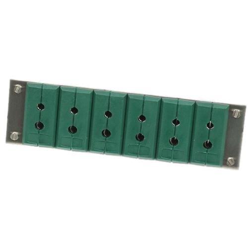 Paneele mit Standard-Kupplungsdose Typ K, 6Fach/1Reihe