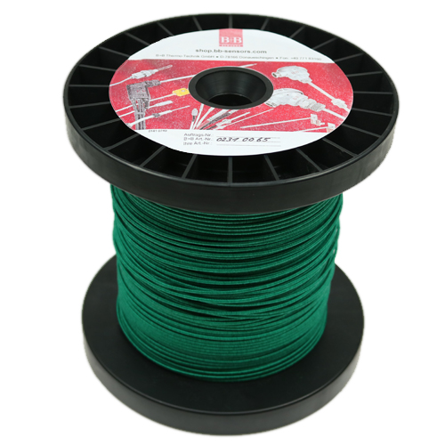 Thermocouple wire 2 x 0.20 mm, type K NiCr-Ni, gl fibre covered, 100 on